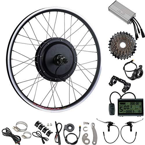 """YOSE POWER 26\"""" 48V-1000W Kit di Conversione del Motore della Bicicletta Elettrica per Ruota Posteriore con 7S Shimano Freewheel"""