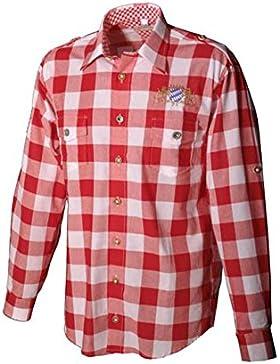Trachtenhemd Justus rot Karo Langarm OS Trachten