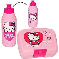 Preisvergleich für alles-meine.de GmbH 2 TLG. Set _ Lunchbox / Brotdose + Trinkflasche - Hello Kitty - Brotbüchse..