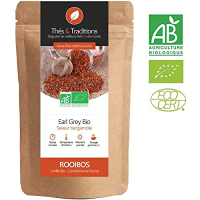 Rooibos Earl Grey - Bergamote sans théine | Sachet 100g vrac | ? Certifié Agriculture biologique ?