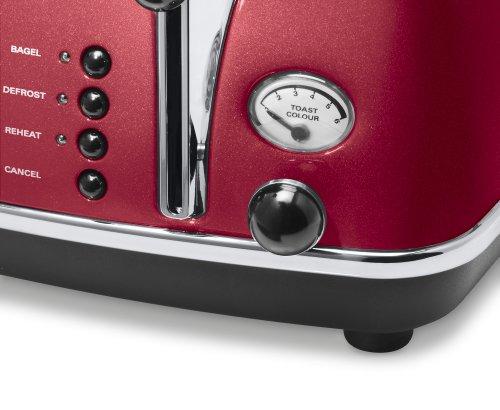 De'Longhi Icona Micalite CTOM4003R 4-Slice Toaster – Red