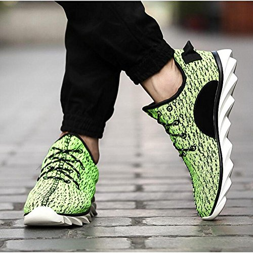 Sneaker a rete in lana di mens drago scarpe sportive di primavera / autunno traspirante confortevole e antiscivolo Green