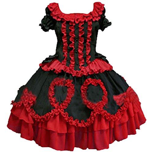Partiss Damen Cotton Kreuz Straps Vintage Multilayer Kleider Retrostil Barock Fancy Dress Cosplay...