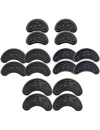 MagiDeal 16pcs 4 Tamaño de Pie Puntas Talón Suela Antideslizante Aprovechar Reparación de Zapatos Protectores de Goma