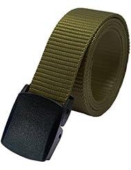valali Heavy Duty Tactical Cinturón reforzada Military Style Nylon Cinturón, Armee-Grün