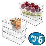 mDesign bac de Stockage pour réfrigérateur et congélateur (Lot de 6) - boîte...
