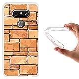 LG G5 Hülle, WoowCase Handyhülle Silikon für [ LG G5 ] Ziegelsteinmauer Handytasche Handy Cover Case Schutzhülle Flexible TPU - Transparent