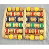 SODIAL (R) de rodillos de madera del pie Massager Reflexologia para el Estres