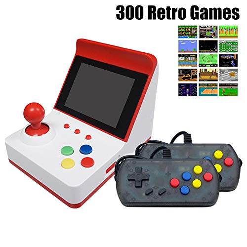 Lovejoy Store Retro FC Arcade-Spielekonsole, Handheld-Spielekonsole mit Gamepads, Eingebaute 360 Classic Games mit TV-Anschluss, Kinderspielzeug Christams Gift Red with Gamepad