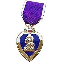 Morado corazón medalla reproducción EE. UU. Militar medalla con pines, chapado en oro de 24K militar de colección medalla