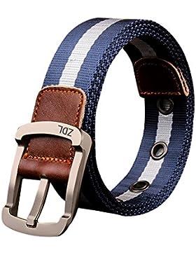 Sitong pin ocasional cinturones de tela hebilla engrosamiento de hombres