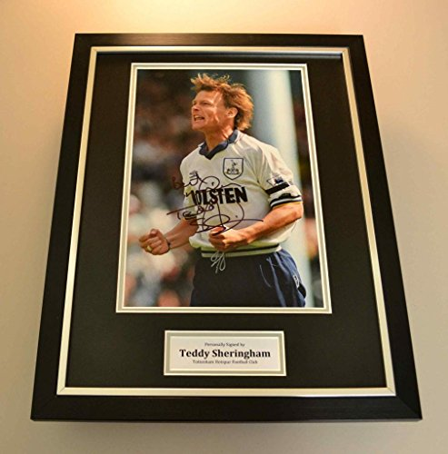 Up-North-Memorabilia-Teddy-Sheringham-Signed-Framed-Photo-Display-Tottenham-Hotspur-Autograph-COA