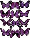 Cakeshop 12 x VORGESCHNITTEN Lila Essbare Schmetterling-Kuchen topper (Tortenaufleger)