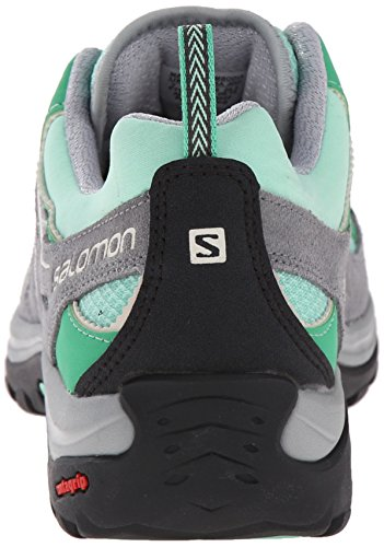 Salomon Ellipse 2 Aero, Chaussures de Randonnée Basses Femme Vert (Lucite Green/Pearl Grey/Light Grey)