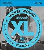 D'Addario EXL150H - Juego de cuerdas para guitarra eléctrica de níquel.010 - .026