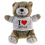 Multifanshop Kuscheltier Bär Classic I Love Gisela beige