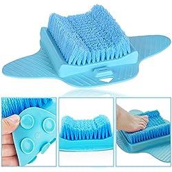 ephvodi Pied Brosse Scrubber Nettoyant salle de bain Masseur rondelles pour la douche-Vert et Bleu