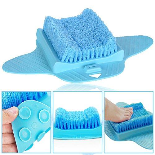 EPHVODI Fußbürste Scrubber Reiniger Bad Massagegerät Unterlegscheiben für die Dusche (Blau) -