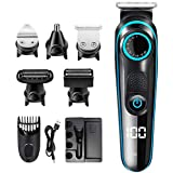 Innoo Tech Hair Clippers Men, 5 in 1 Multifunctional Beard Nose Body Trimmer Shaver Set, Professional Home Barber Kit with US