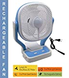 Bulfyss SpaceLife 9-Inch Premium Dual High Low Speed Rechargeable Table Fan with LED