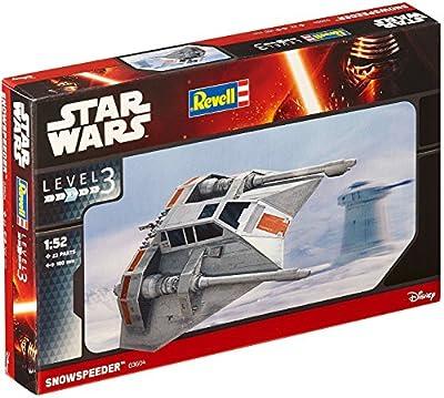 Revell Modellbausatz Star Wars Snowspeeder im Maßstab 1:52, Level 3, originalgetreue Nachbildung mit vielen Details, einfaches Kleben und Bemalen, 03604 von Revell