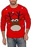 Weihnachtspullover Rentier Ugly Christmas Sweater Pullover Weihnachten Rot S