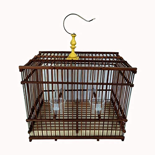 1 PCS Jaula de pájaros de bambú de Mascotas Jaula de cría Jaula de pájaros, para Jade Bird/Acacia/Furong/Sparrow Bird Cage