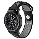 Pinhen 20mm, schnelles Uhrenarmband, 20mm, Silikon-Ersatz-Band, Gurt für Ticwatch E der 2. Gear S2Classic/Moto 3602. Generation mit 42mm, Huawei Watch 2