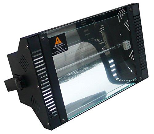 Karma Italiana Stroboskop 1000Indoor & Outdoor Disco-Stroboskop schwarz, Discolicht, 1000W, AC, 440mm, 190mm