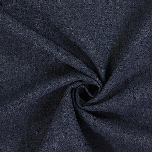 Fabulous Fabrics Leinen Stoff, vorgewaschen - Navy - Meterware ab 0,5m - zum Nähen von Kissen, Frühlings-/Sommerkleidung und Hemden