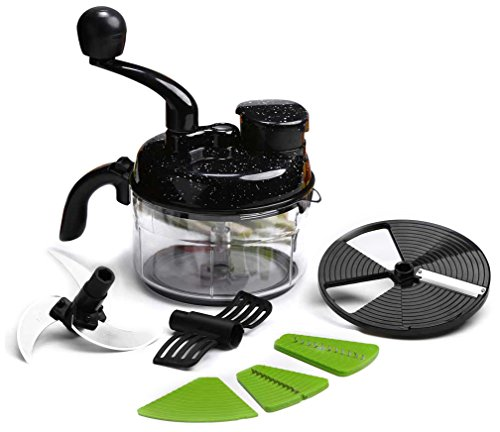 Wonderchef Turbo Dual Speed Food Processor with Free Knife and Peeler (Black)