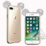 TVVT Compatible avec iPhone 7 Plus/iPhone 8 Plus Coque, 3D Adorable Mickey Oreille...