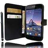 Luxus Schutzhülle Stand mit Brieftasche für Wiko Cink