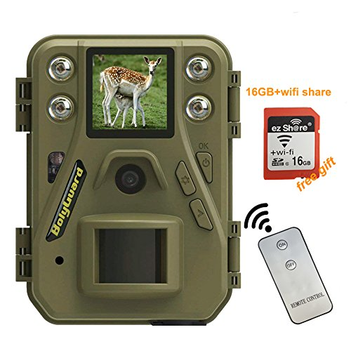 BolyGuard Wildkamera 12MP 720P HD 85ft mit bewegungsmelder nachtsicht Handy übertragung fotofalle Jagdkamera für Garten Sicherheitsfarm im Freien (1 Eins)