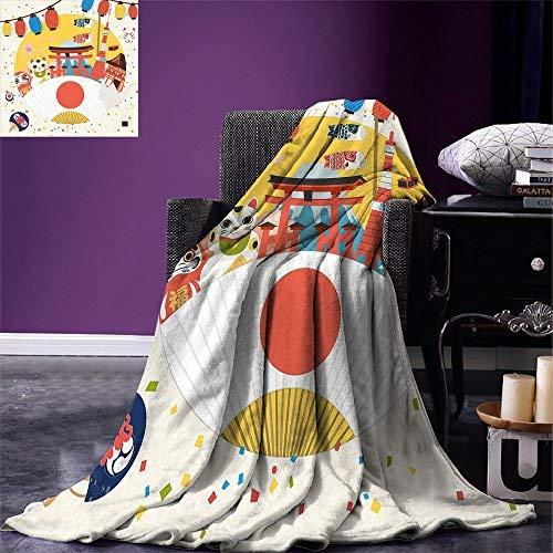"""smallbeefly Laterne Überwurf Decke Colorful Verschiedene Zahlen Rahmen Design mit Crescent Moon und Stars Warm Mikrofaser All Season Decke für Bett Oder Couch Multicolor 80\""""x60\"""" Color8"""