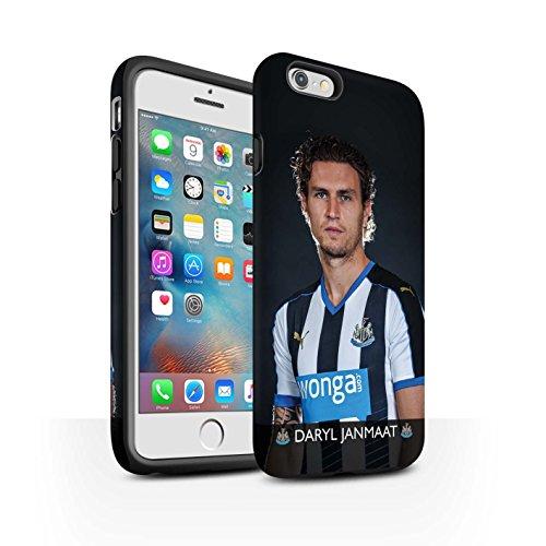 Offiziell Newcastle United FC Hülle / Matte Harten Stoßfest Case für Apple iPhone 6+/Plus 5.5 / Pack 25pcs Muster / NUFC Fussballspieler 15/16 Kollektion Janmaat