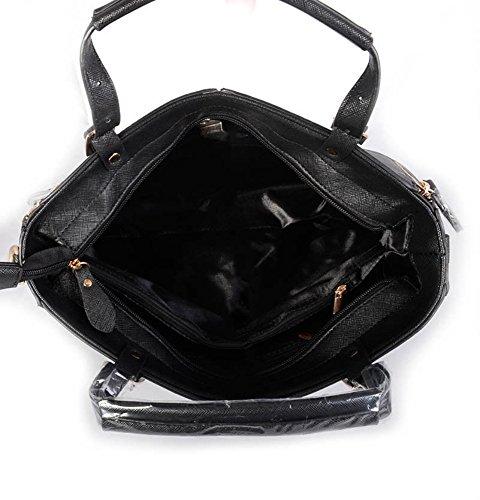 LeahWard® Damen Mode Tasche Damen Essener Berühmtheit Tote Handtasche Reißverschluss Essen Mittel-Klein Größe Qualität Kunstleder Taschen Geschenk CWRM150967 CWRB160120 CWRM150967-Grau/dunkel nackt