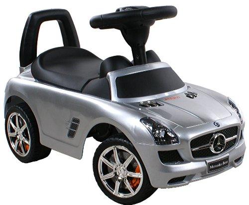 Spingere - Giocattolo da tirare - Baby car - Auto per bambini ARTI Mercedes SLS AMG 332P Silver Paint / Argento Ride-On Attivit? giocattolo