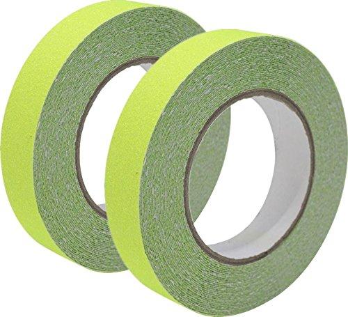 Anti Slip Tape Safety Tape Glow Fluorescent 10m x 2.5cm, yellow