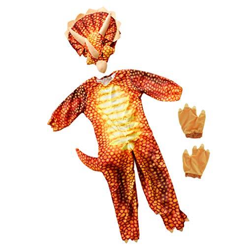 perfeclan Dinosaurier Kostüm T-Rex Jumpsuit, Geschenk für Kinder - - Rotes T Rex Dinosaurier Kostüm