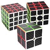 COOJA Cube Pack 2x2 3x3 4x4, Speed Cube Fibra Carbono Cubo Velocidad...