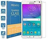 PREMYO Verre Trempé Film Protection Écran Compatible avec Samsung Galaxy Note 4 Dureté 9H Bords 2,5D Anti-Rayures sans Bulles Résistant