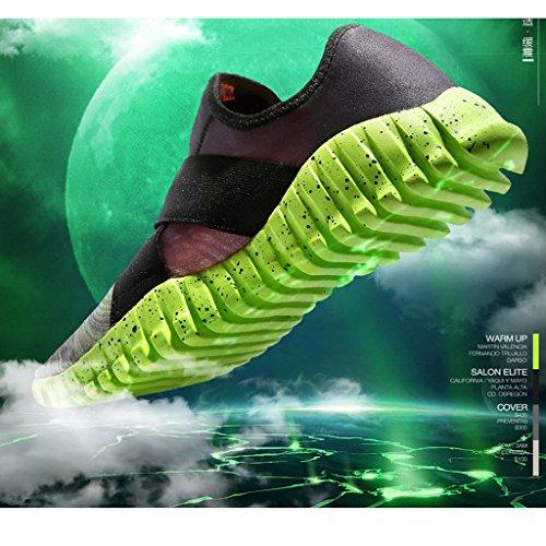 Oriskey Mixte Adulte Homme Femme Chaussures de Multisport Outdoor de Course de Running Baskets Gym Fitness Sport Sneaker Vert