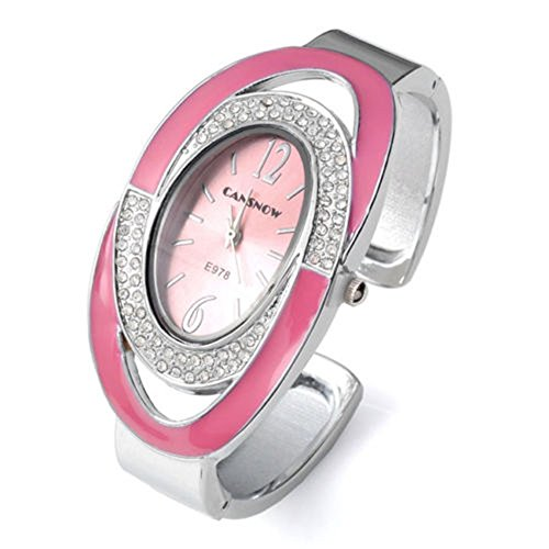 SSITG Damen Armbanduhr Oval Nebelfleck Quarzuhr Damenuhr Armband SPANGENUHR GESCHENK 004