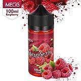 IMECIG® E Liquid für E Zigaretten/E Shisha, E Liquid Aroma 70VG/30PG Vape Eliquids, ohne Nikotin(100ML) (Himbeere)