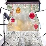 CapiSco Senza Cucitura Sfondo Fotografico fondale Puntello per Fotografia Studio verde Natale Pavimento 6x9ft(1.8x2.7m) XM16B