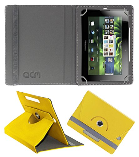 Acm Rotating 360° Leather Flip Case for Blackberry Playbook 4g Cover Stand Yellow  available at amazon for Rs.149