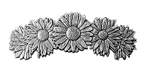 Daisies Hair Clip | Hand Crafted Metal Barrette Made in the USA with imported French Clips By Oberon Design ... by Oberon Design -