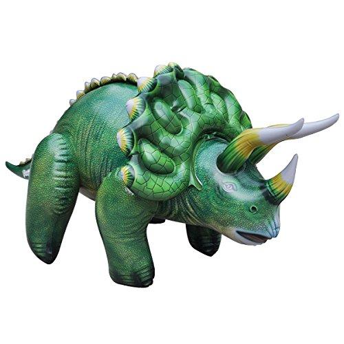 Dinosaurier Schnee Kostüm - Goodtimes Dinosaurier Figur Triceratops aufblasbar - Kinderspielzeug - Tiere