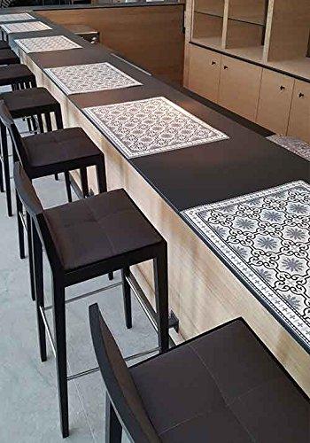 Louisiane Design Set de Table Carreaux de Ciment 35 x 50 cm